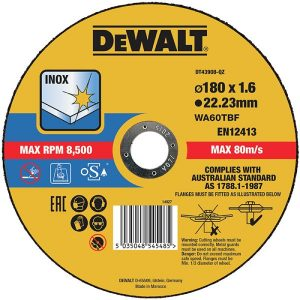 Dewalt DT43908 Kappskive thin cutting 180 x 1,6 mm