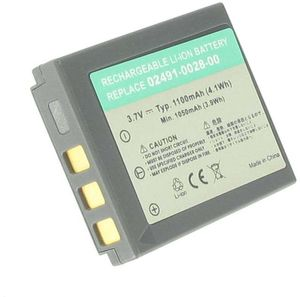 02491-0028-00 for Hitachi, 3.6V (3.7V), 1100 mAh