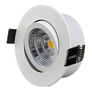 Designlight Q-1MW Downlight med driver, 3000 K, tilt